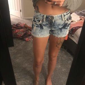 Amethyst Jeans Shorts - Acid Wash Shorts